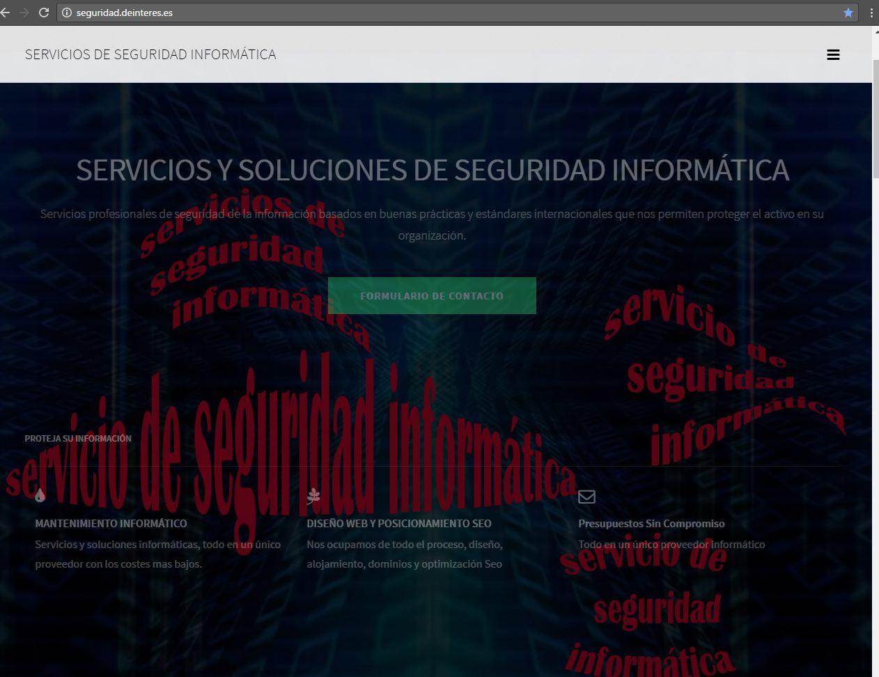 Servicio de seguridad informática