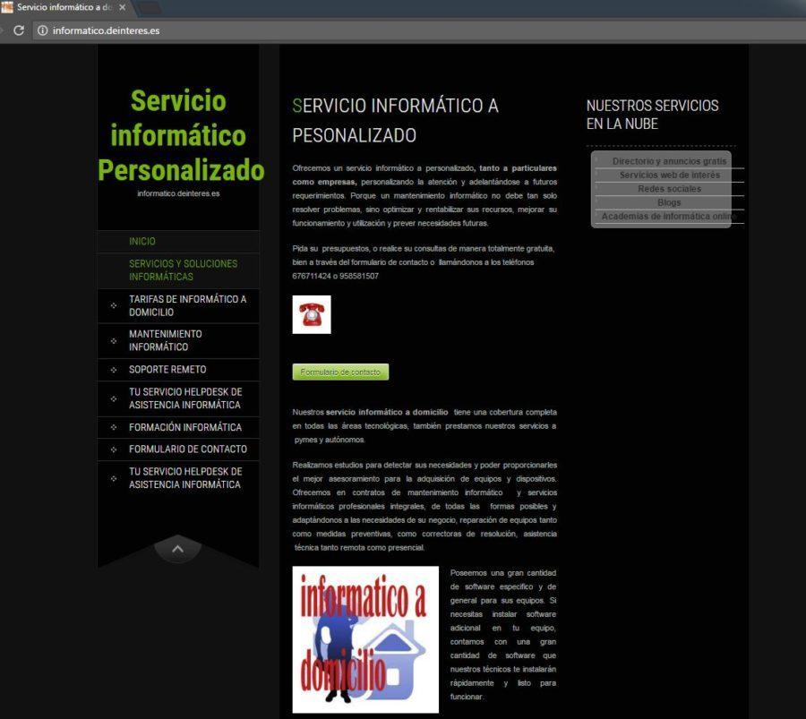 Servicio informático Personalizado