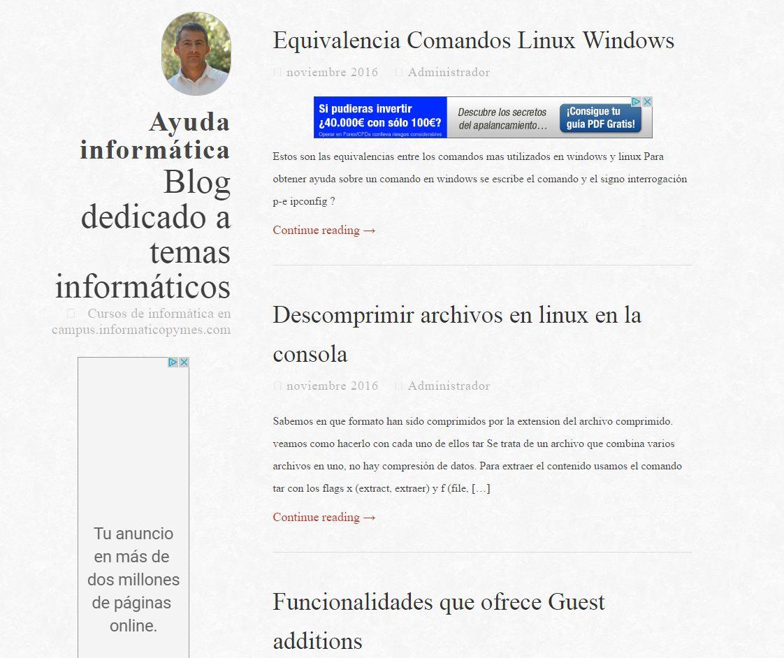 Blog de ayuda informática